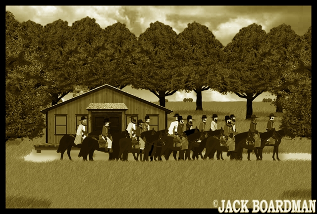 They left from the Jones Ranch ©2012 Jack Boardman