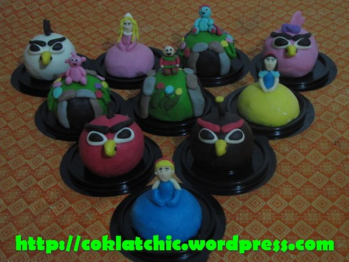 Minicake Princess, minicake angry bird, minicake in the night of garden