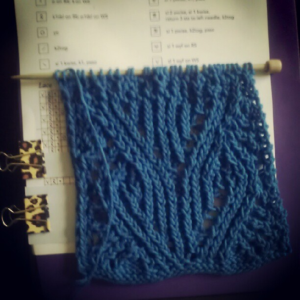 I refused to let this pattern get the best of me! Finally making progress. #knitting #yarn #onmyneedles