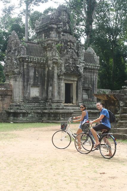 Biking Angkor Wat