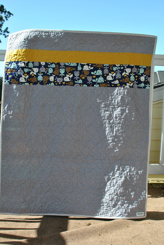 Baby Whales Quilt - back