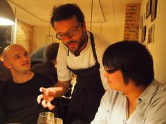 Christian explaining the dish..