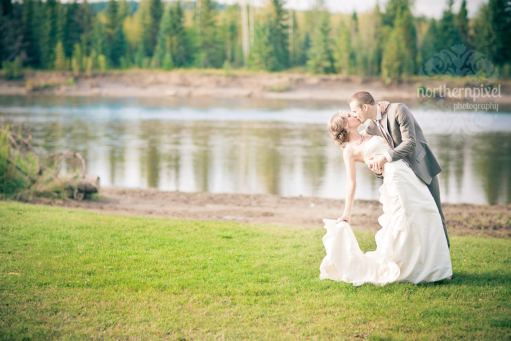 Wedding Dip at Wilkins Park, Prince George BC Canada