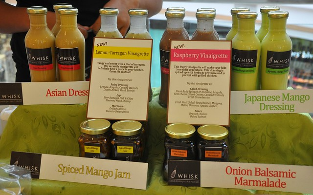 Whisk dressings and marmalades