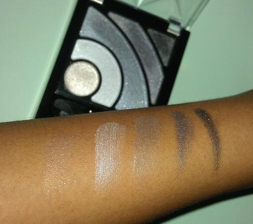 Maybelline New Eye Studio LuminEyes Illumintating Eyeshadow Gray swatches