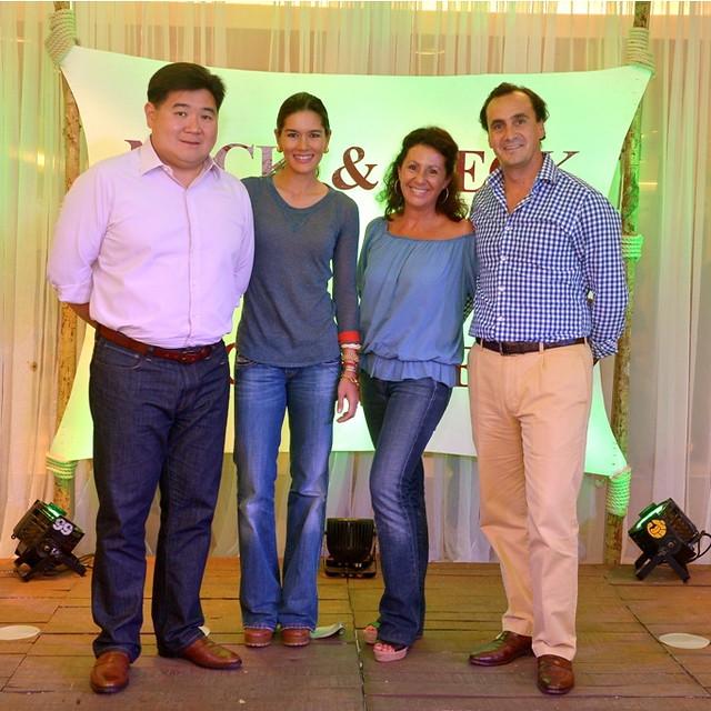 Rustan's Executive Vice President Anton Huang and wife Nina with Maria & Eudardo Zamacola