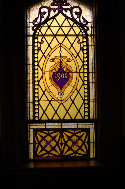Class of 1900's window in the hallway