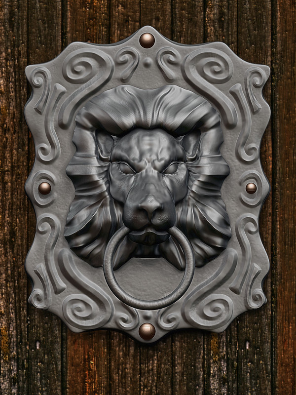 Lionhead door knocker