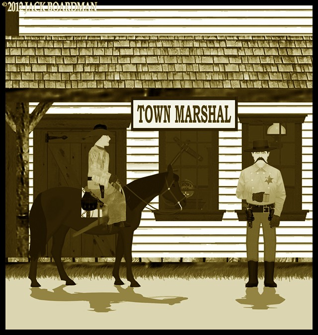 Sadie and Marshal Earp ©2012 Jack Boardman