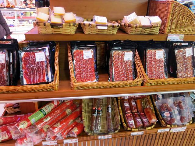 supermarket in San Sebastian- smoked meat