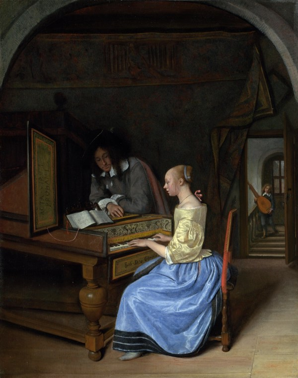 Jan Steen - Young Woman Playing Harpsichord
