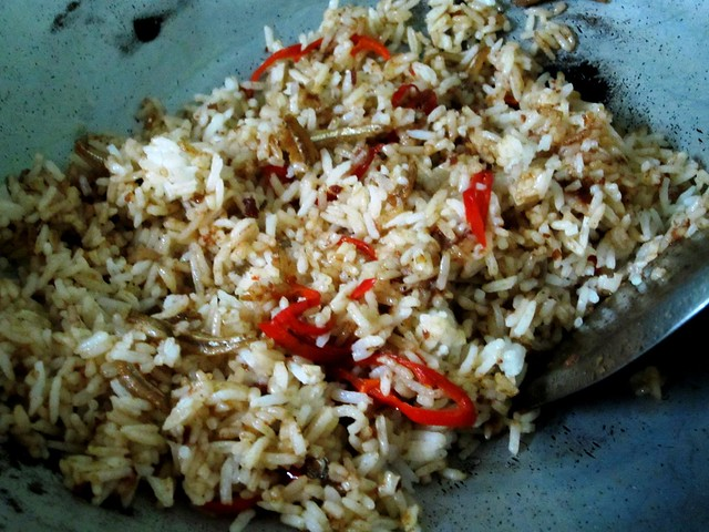 Add rice & chilies