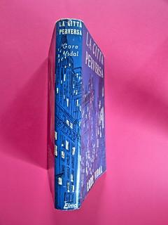 Gore Vidal, La città perversa, Elmo editore 1949. (copia 2) Dorso di sovracoperta (part.), 1