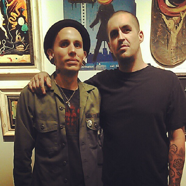 @ryanjacobsmith and I at the #LiveFree show last night. @helliongallery