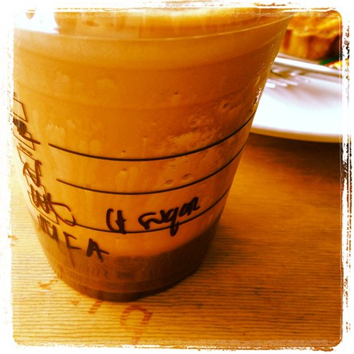Inside my #mochafrappuccino : Afogato-ed double shot of espresso by #starbucksnomad