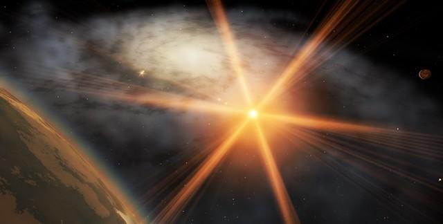 Fantastic sights above a spiral galaxy