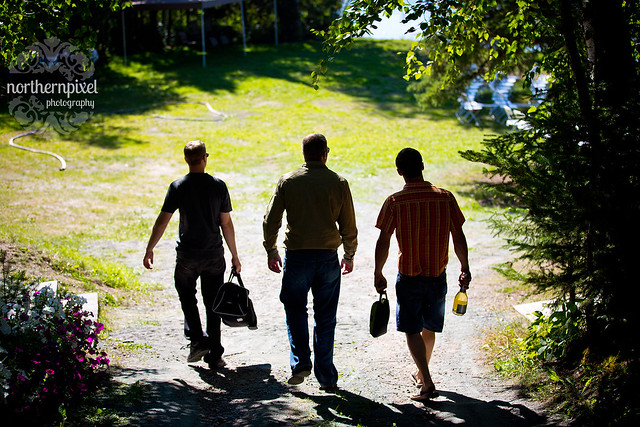 The Guys Arriving at the Lake