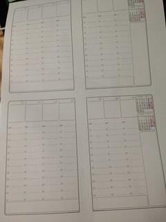 新しいウィークリーカレンダーは22:00以降を削って横軸スケジュール用の欄を作った。