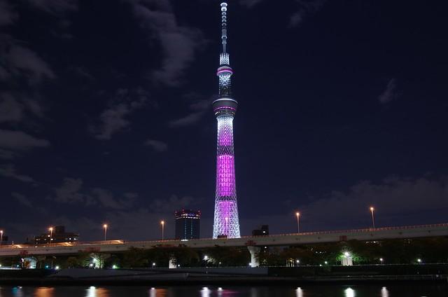 東京スカイツリー ピンクリボン・イルミネーション2012 Tokyo Sky Tree