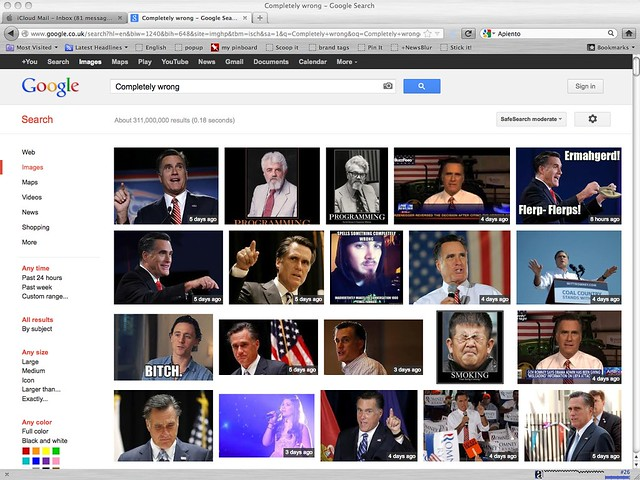 Romney google bombed