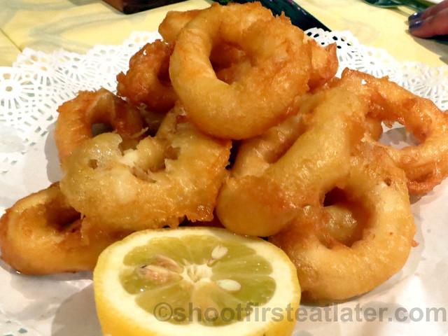 La Fonda Del Port Olimpic- calamares a la Romana (batter fried squid)