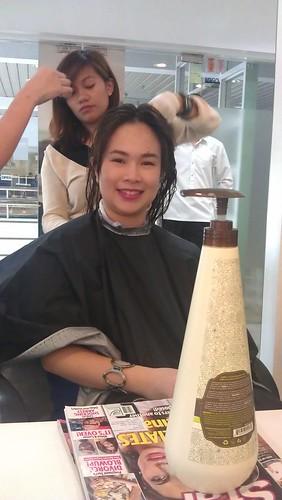 Macademia Hair straightening