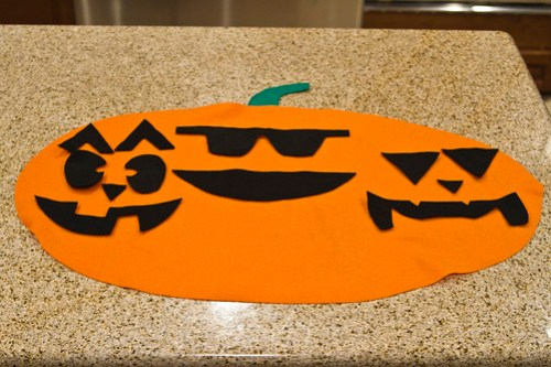 no-sew felt jack o'lantern faces