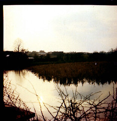 Lubitel photo of a country lake in autumn