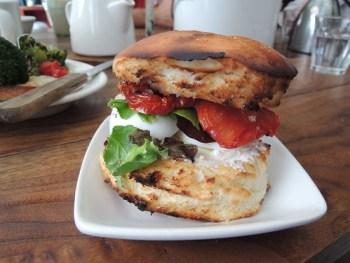 Boiled egg sandwich at Farm Table