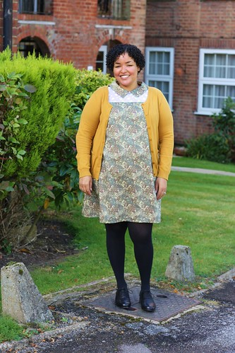Final version of Simplicity 8670 (maternity pattern) in Liberty cotton and Japanese lace