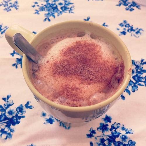 Moccha latte #nespresso #steamer Low fat milk ja @camilla_kristin  MMMMMMMMM