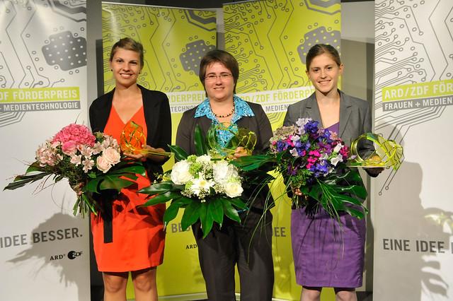 Die drei Preisträgerinnen des ARD/ZDF Förderpreis 2012