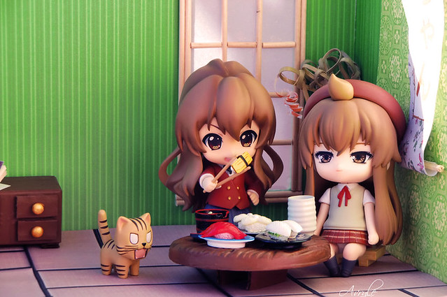 """Time to lunch for Chiaki and Taiga!"" by Avryle"