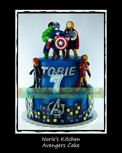 Norie's Kitchen - Avengers Cake by Norie's Kitchen