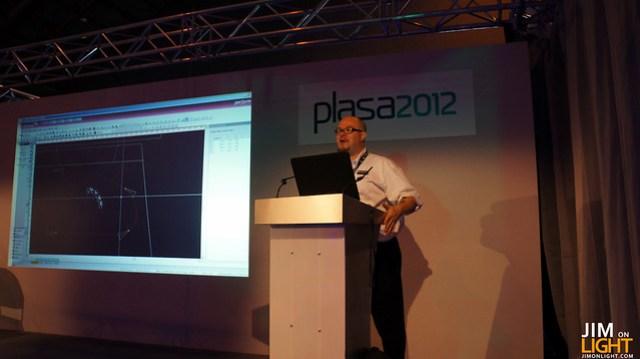 Jim talking at PLASA 2012