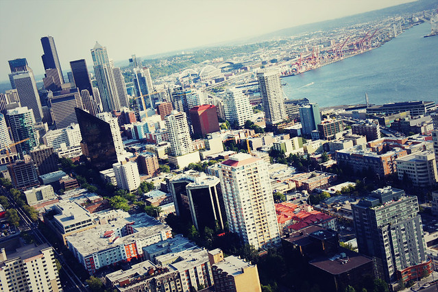 View of Seattle from the Space Needle