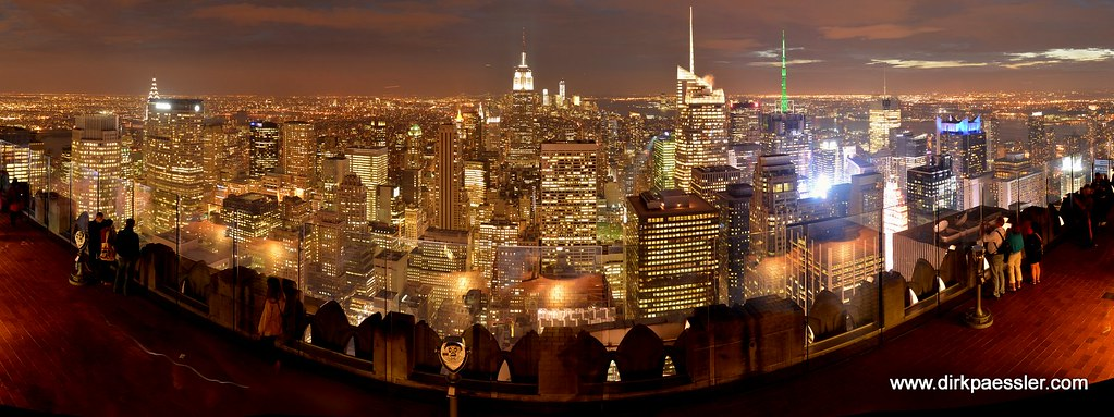 """Manhattan from the Roof of Rockefeller Center (""""Top of the Rock"""") by Dirk Paessler"""