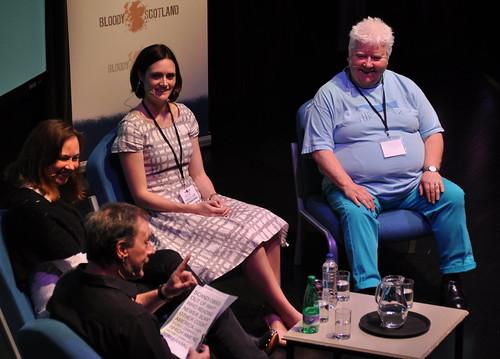 Barry Forshaw, Yrsa Sigurðardóttir, Jade Chandler and Val McDermid