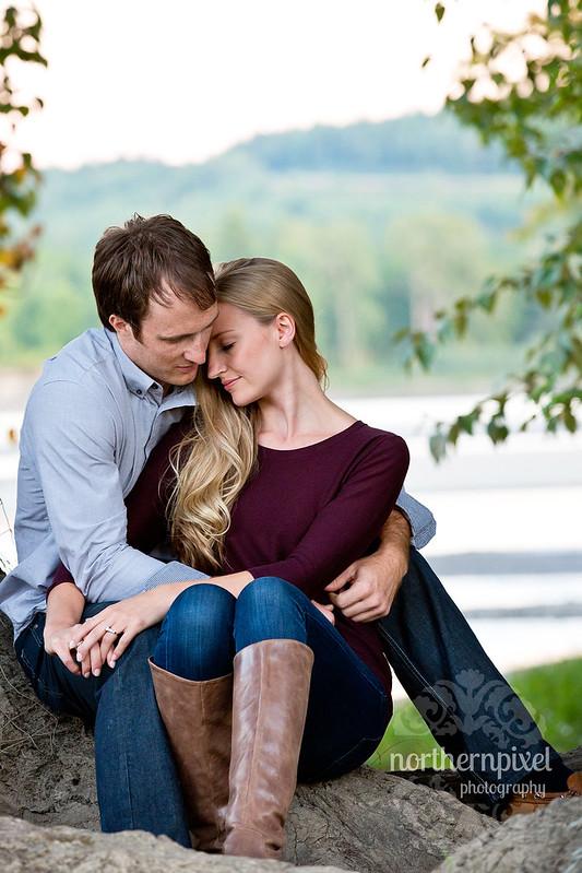Engagement Photos - Prince George, BC Nechako River