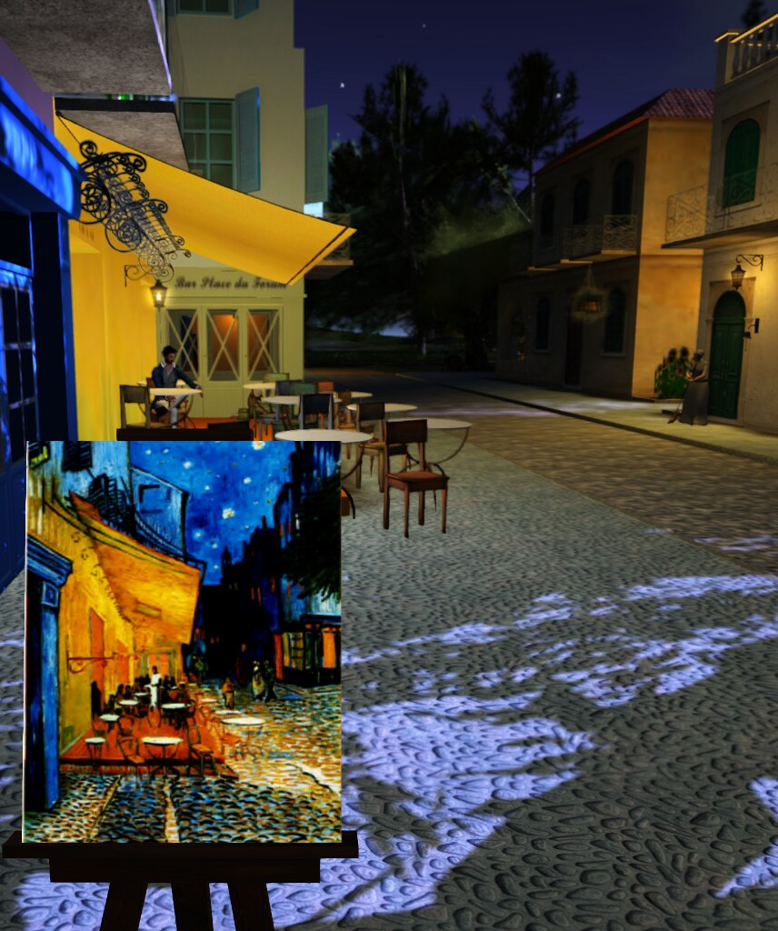 At van gogh s virtual arles second sighting for Terrace night