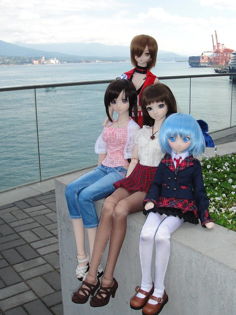 Saya, Meiko, Annalise and Cirno!