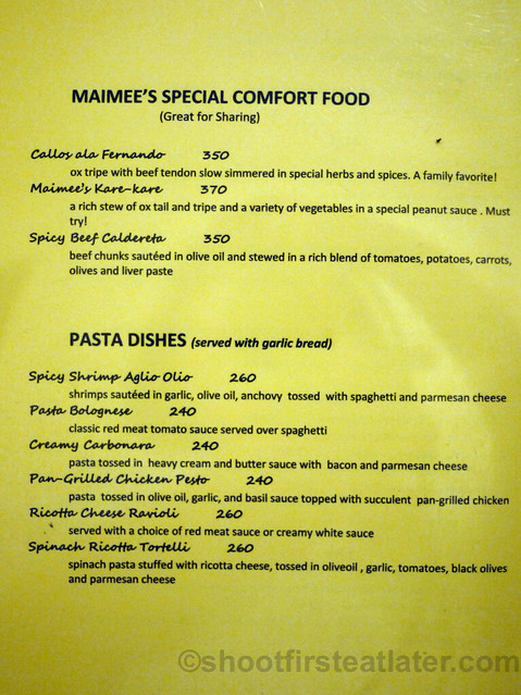 Maimee's Garden Cafe menu-002