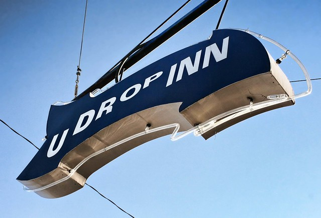 U-Drop-Inn neon arrow, Shamrock TX, USA. Photo copyright Jen Baker/Liberty Images; all rights reserved, though pinning to this page is okay.