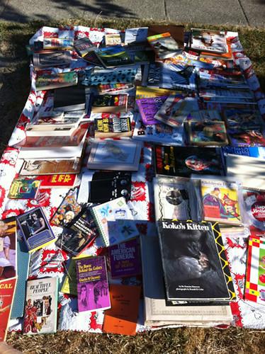 Spread o' books
