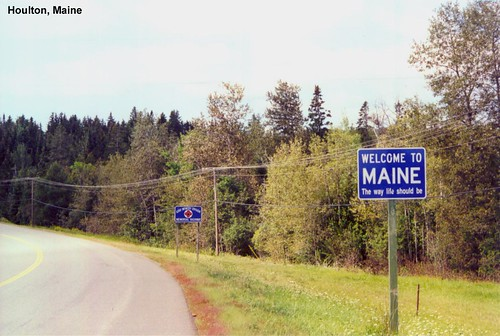 And Towns New Hampshire Bordering Maine Map