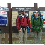Dave and Jenn at the trailhead, San Mateo Canyon