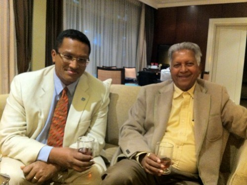 Dilhan and Merrill Fernando, founder of Dilmah Tea
