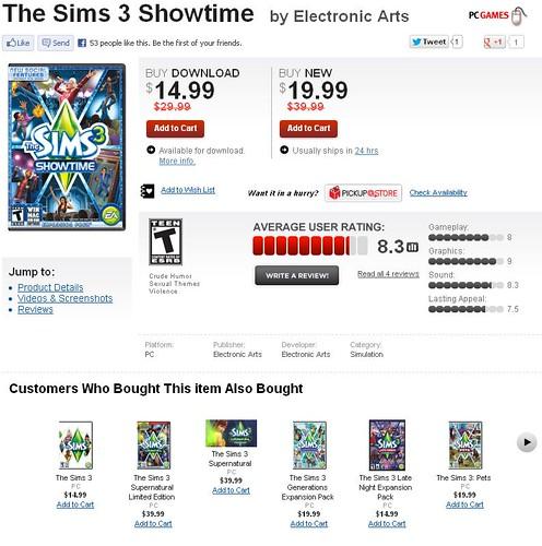 GameStop Sims 3 Sale!