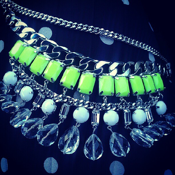 Since I passed on the super sexy dress I decided the neon necklace would be worn a lot more. Another successful @tjmaxx trip.