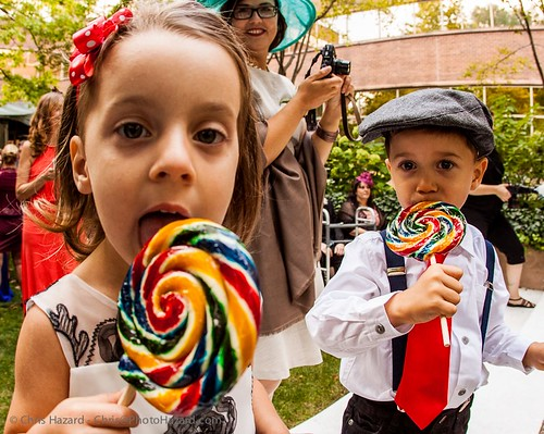 Twin Mini-Attendants and their lollipops